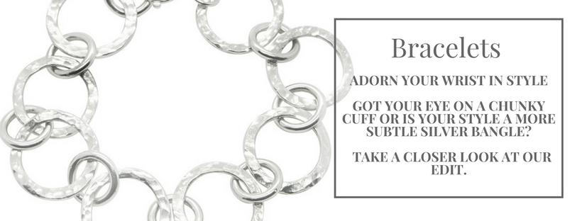 Bracelets, handmade and contemporary. Adorn your list in style.