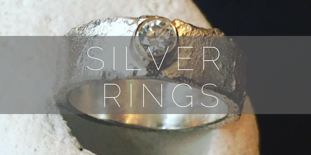 Silver rings, handmade by Nude Jewellery