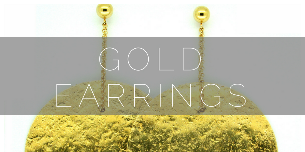 Gold Earrings at Nude Jewellery