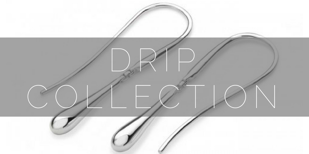 Drip, a simple, silver collection by jewellery designer Lucy Q