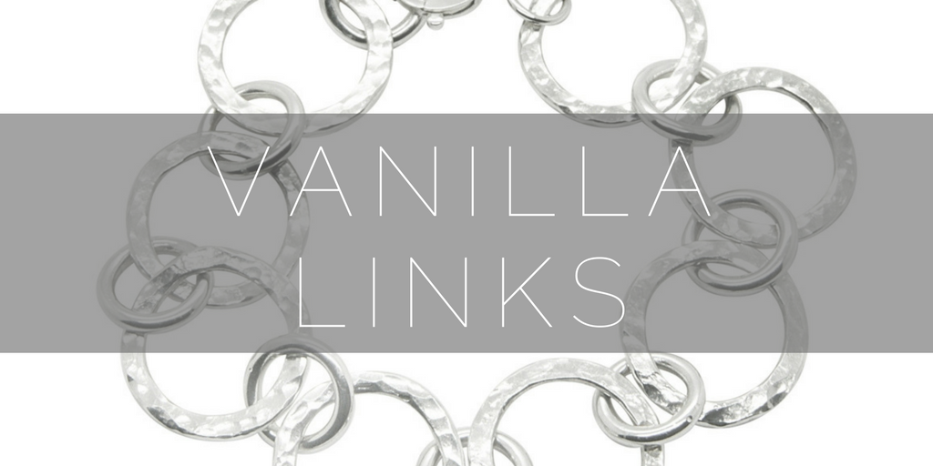 Vanilla links silver collection by jewellery designer Nikki galloway