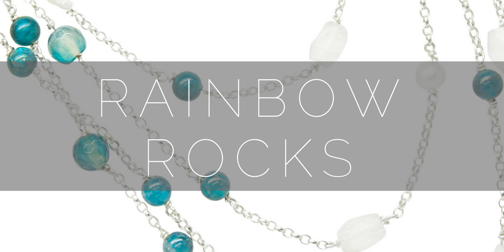 Rainbow Rocks, handmade gemstone necklaces and bracelets