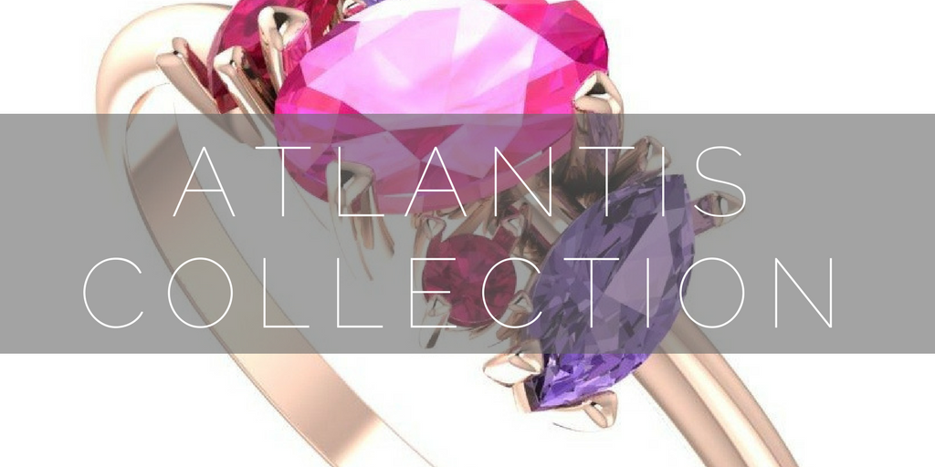 Shop the Atlantis collection, unusual gemstone engagement rings