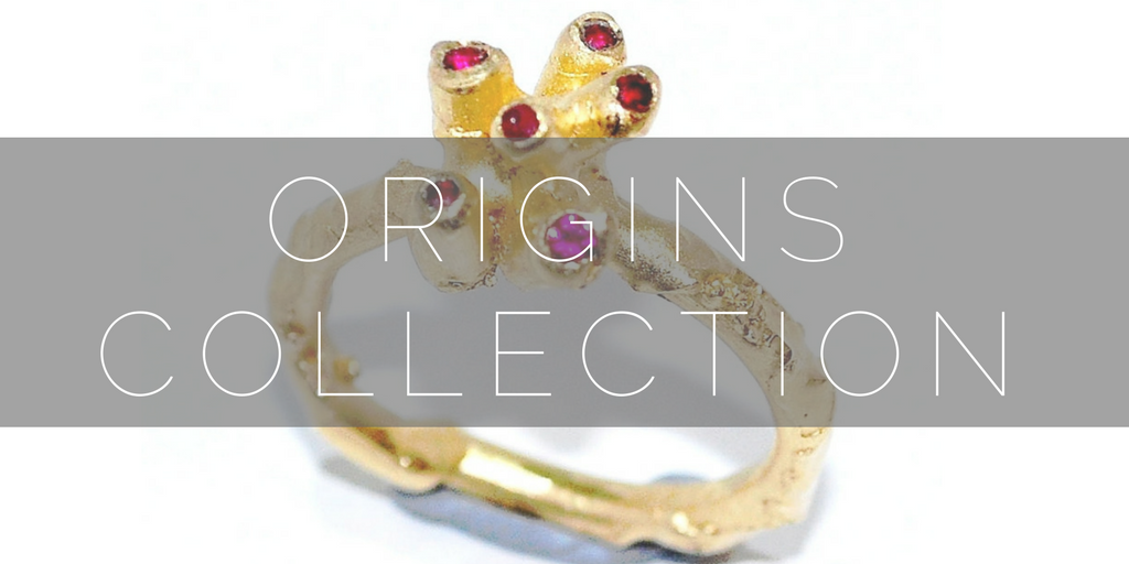 Organic and unusual alternatve gemstone ring design