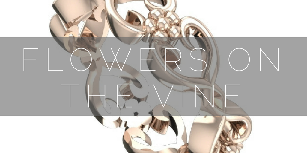 Shop Flowers on the Vine, floral, contemporary bridal jewellery