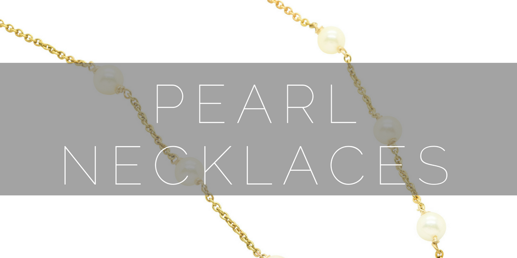 Pearl Necklaces, handmade in the UK by us.