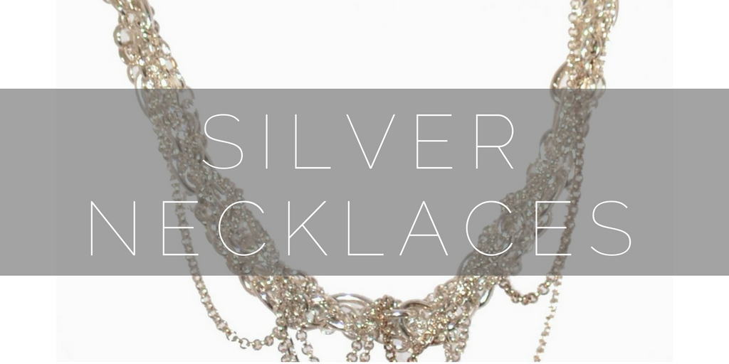Contemporary, designer silver necklaces