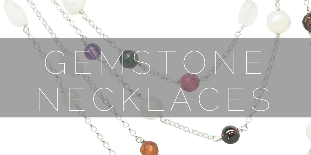 Shop our contemporay gemstone necklaces