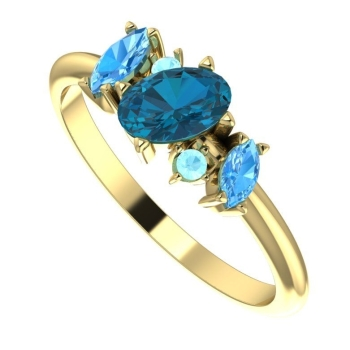 Atlantis Blue: Yellow Gold