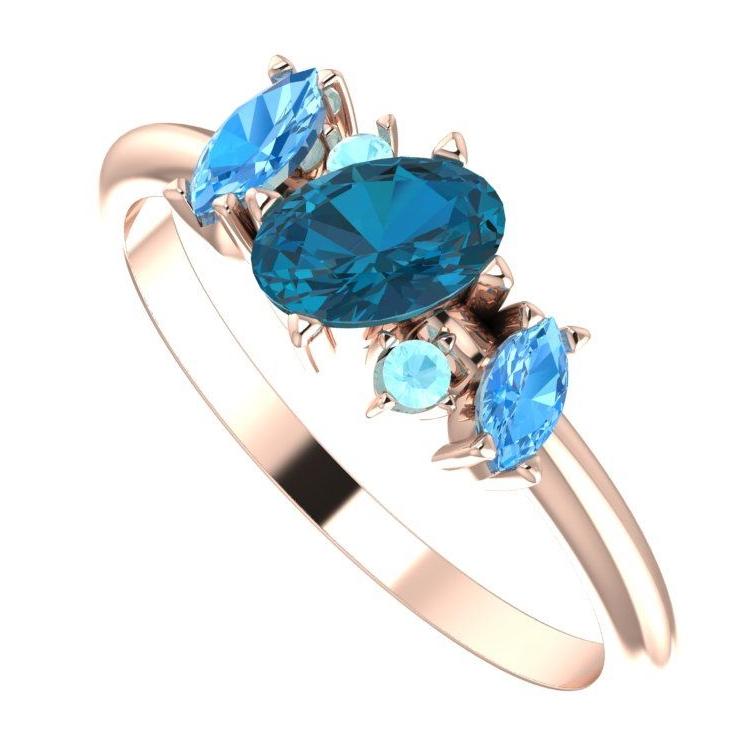 Atlantis Rose Ring
