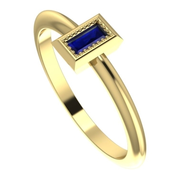 Starflower: Sapphire and yellow gold