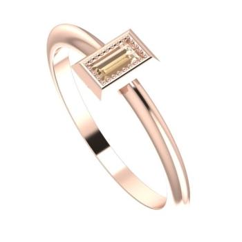 Starflower: Rose Gold & Chocolate Diamond