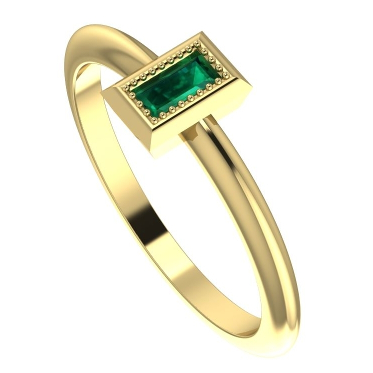 Starflower: Emerald and Yellow Gold
