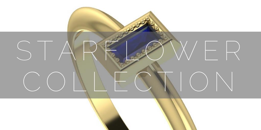 Starflower: Vintage inspired gemstone engagement rings