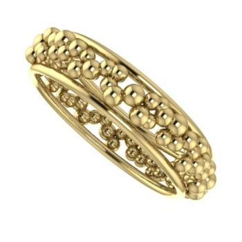 Gold bubble ring