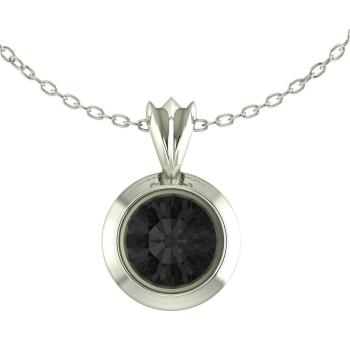 Black Spinel Victoria Silver Pendant