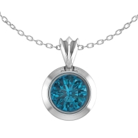 London Blue Topaz Victoria Silver Pendant