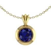 18 Carat Yellow Gold Victoria Sapphire Pendant