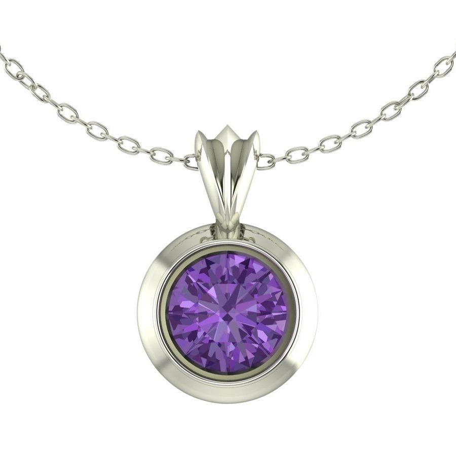Amethyst Victoria Silver Pendant