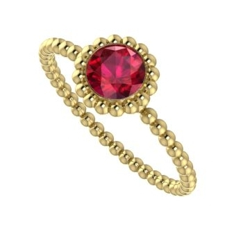 Ruby and yellow gold Majestic engagement ring