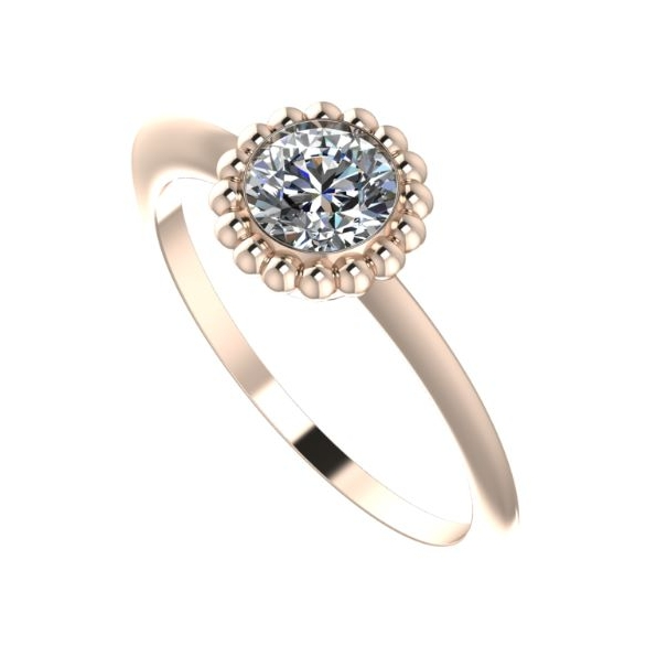 Quirky rose gold and diamond Victoria Ring