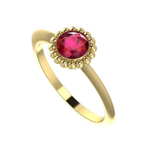 The Victoria Ring, Ruby set in 18 carat yellow gold