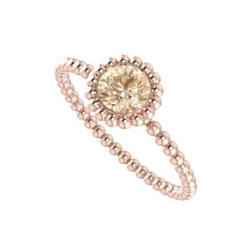 Alto Majestic Ring - Rose Gold and Chocolate Diamond.