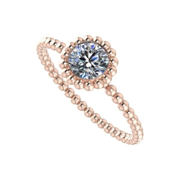 Majestic Ring, Rose Gold and Diamond.