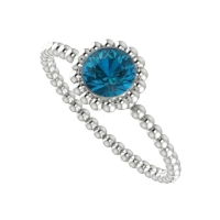 Alto Majestic Ring - London Blue Topaz and White Gold
