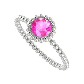 Alto Majestic Ring - White Gold and Pink Sapphire.