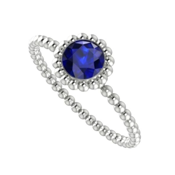 Majestic Ring, White Gold and Sapphire.