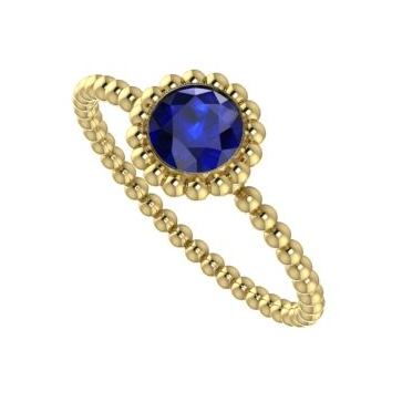 Majestic Ring, Yellow Gold and Sapphire.