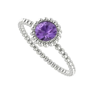 Alto Majestic Ring - White Gold and Violet Sapphire
