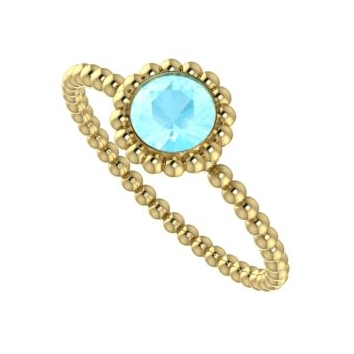 Majestic Ring, Aquamarine and Yellow Gold