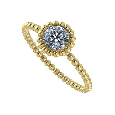 Majestic Ring, Yellow Gold and Diamond.