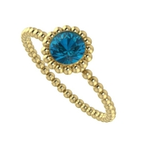Alto Majestic Ring - London Blue Topaz and Yellow Gold