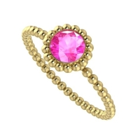 Alto Majestic Ring - Pink Sapphire and Yellow Gold