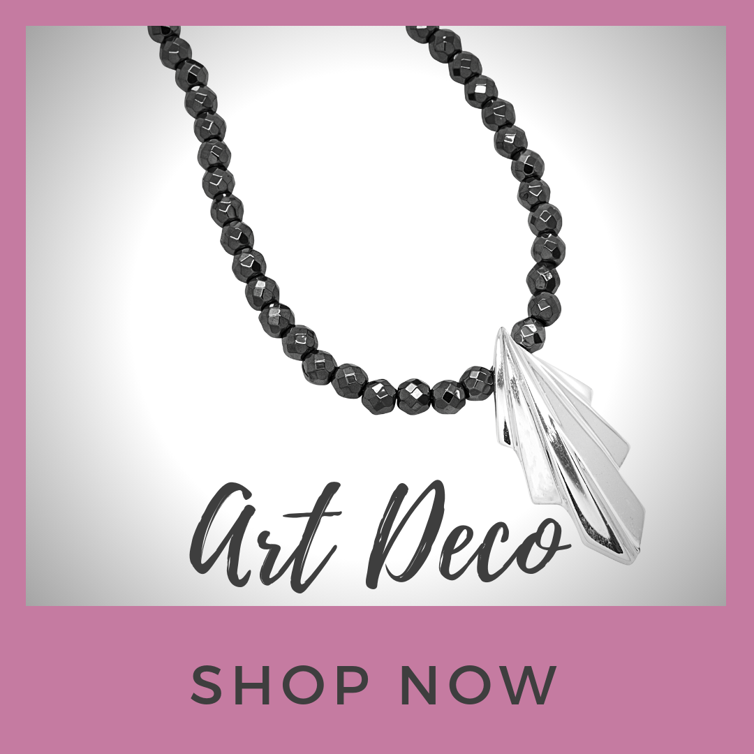 Art Deco inspired handmade designer jewellery by Nikki Galloway