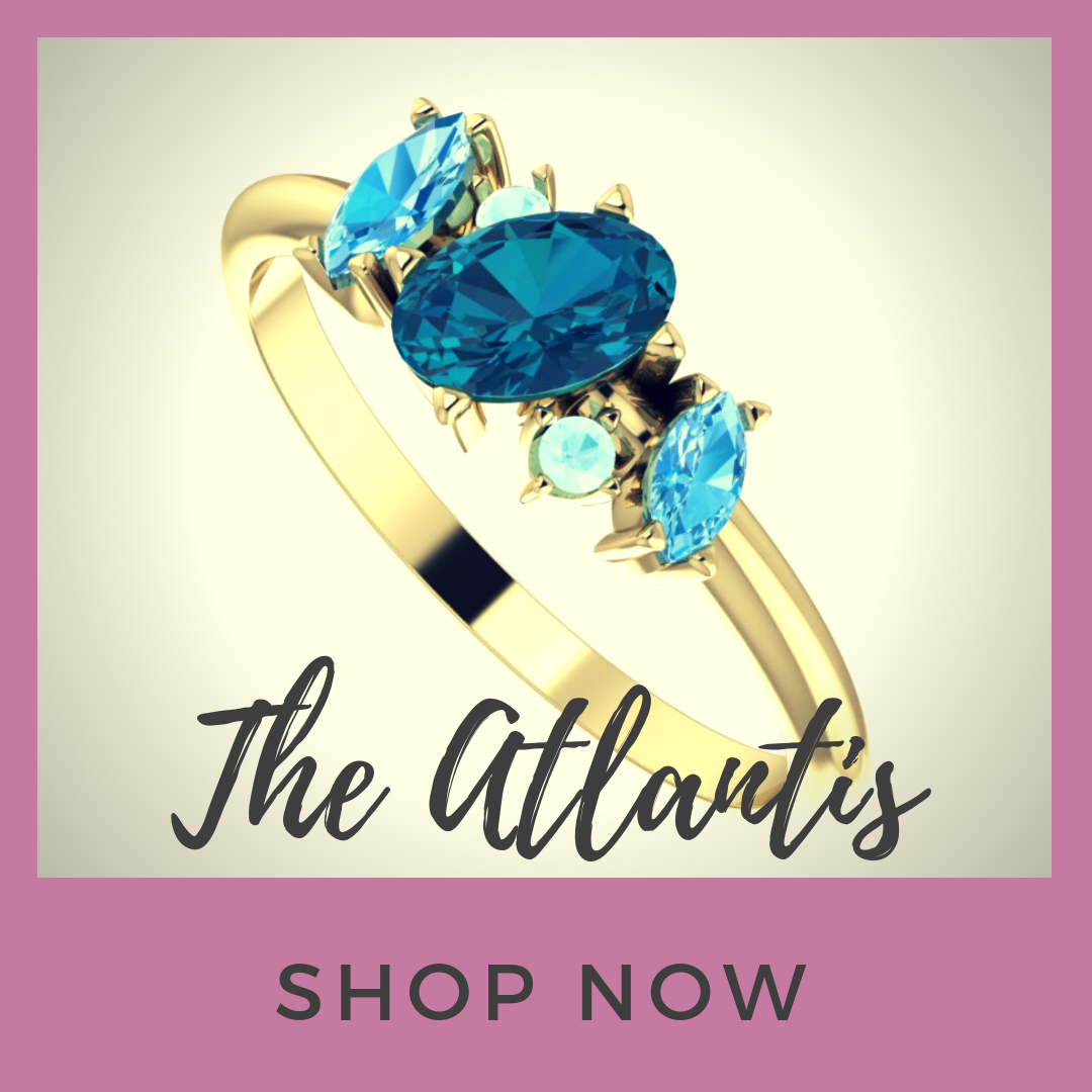 The Atlantis Collection, unusual cluster gemstone jewellery
