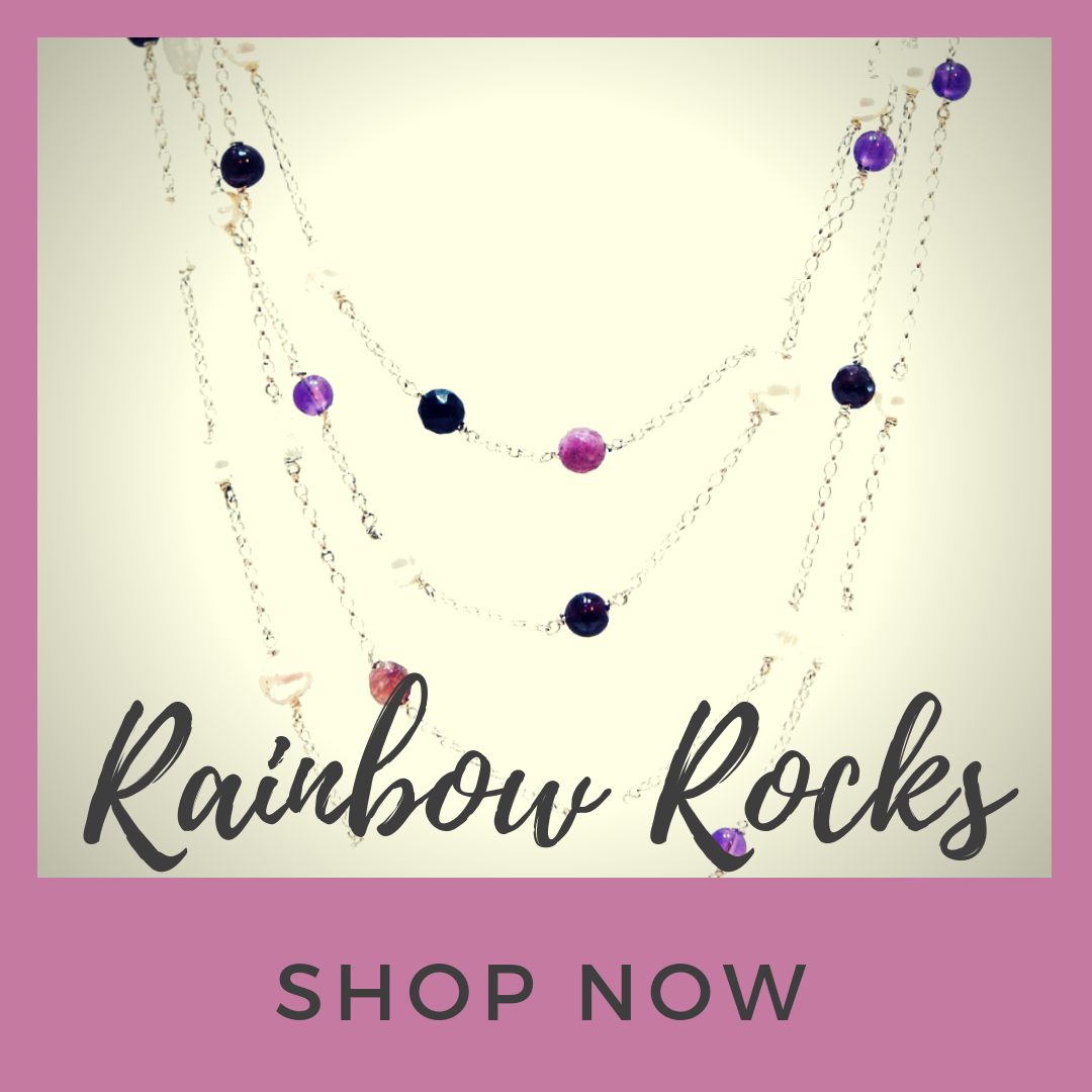 Rainbow Rocks, gemstone jewellery collection.