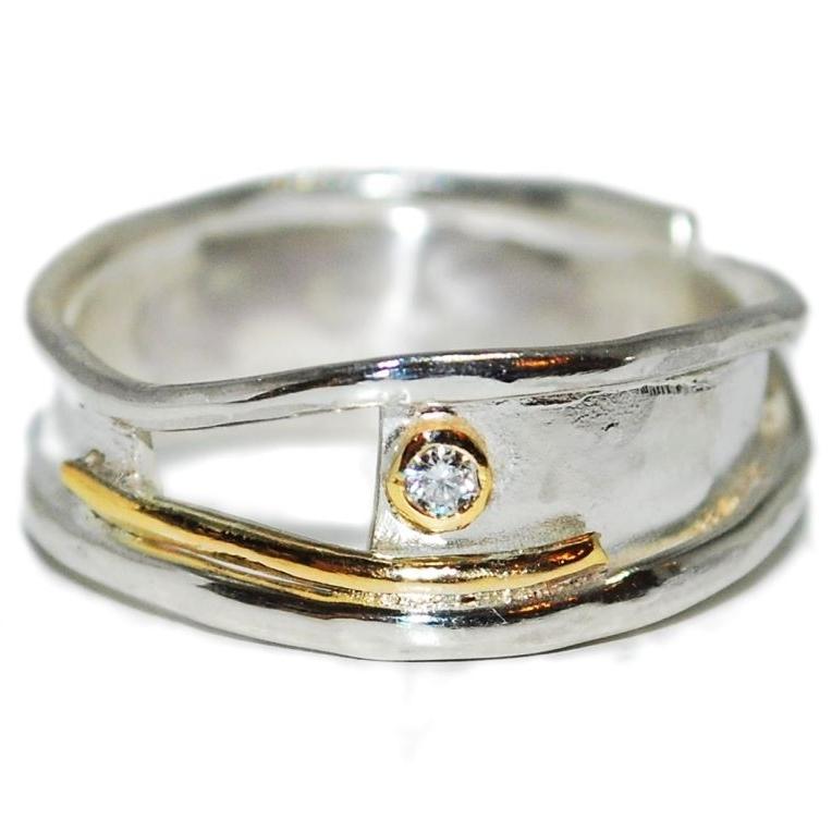 Aternative, unique handmade engagement ring