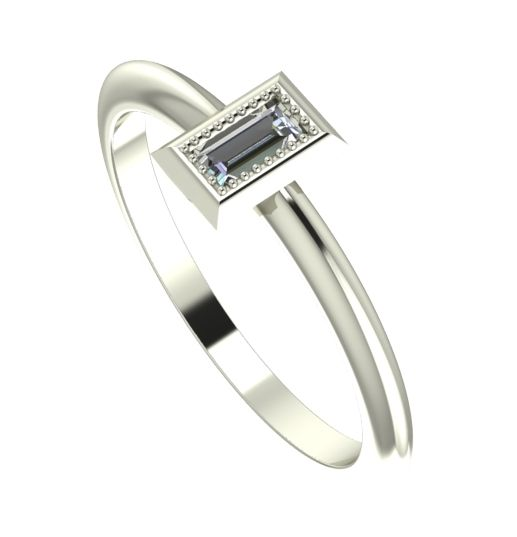 white gold and diamond  vintage style ring
