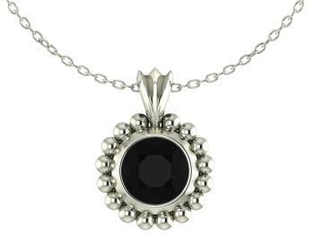 Alto Majestic - Black Spinel and Silver Pendant