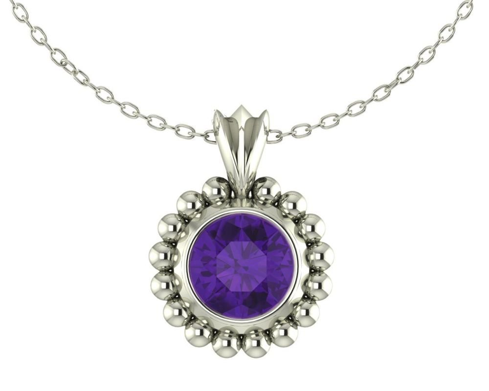 Magestic Amethyst and Silver Pendant