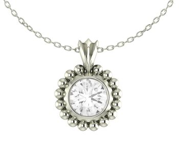 Majestic White Topaz and Silver Pendant