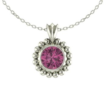 Majestic Pink Tourmaline and Silver Pendant