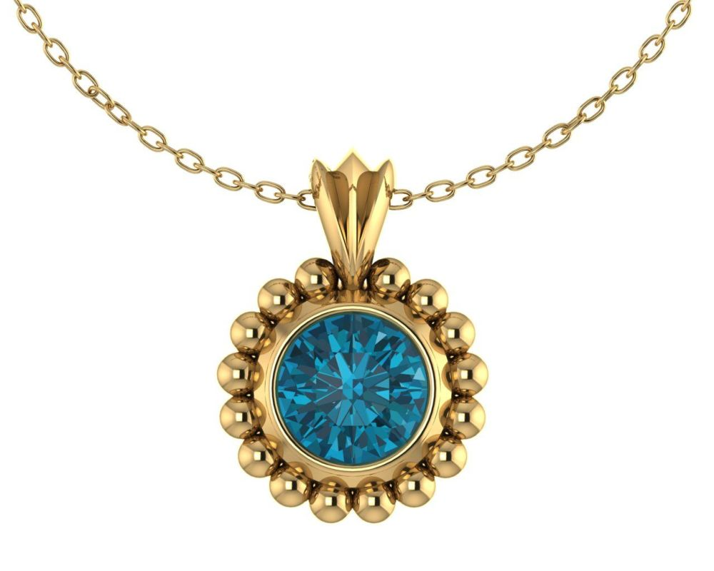 Majestic Yellow Gold and London Blue Topaz