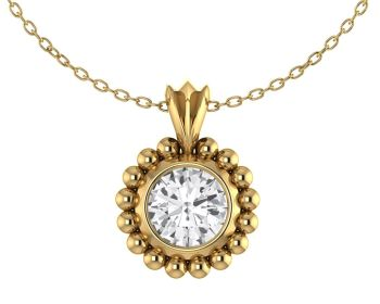 Alto Majestic - White Sapphire and 18 Carat Yellow Gold Pendant