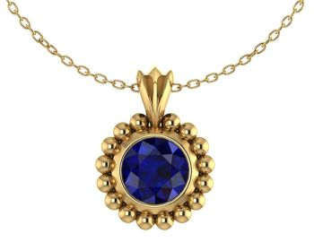 Alto Majestic Pendant - 18 carat Yellow Gold and Blue Sapphire