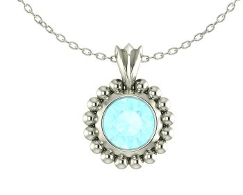 Alto Majestic - Aquamarine and 18 carat White Gold Pendant